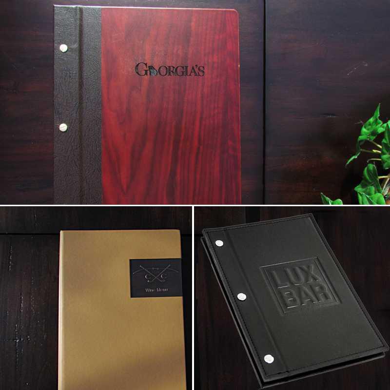 Custom wine bar books for restaurants, hotels, clubs, bars