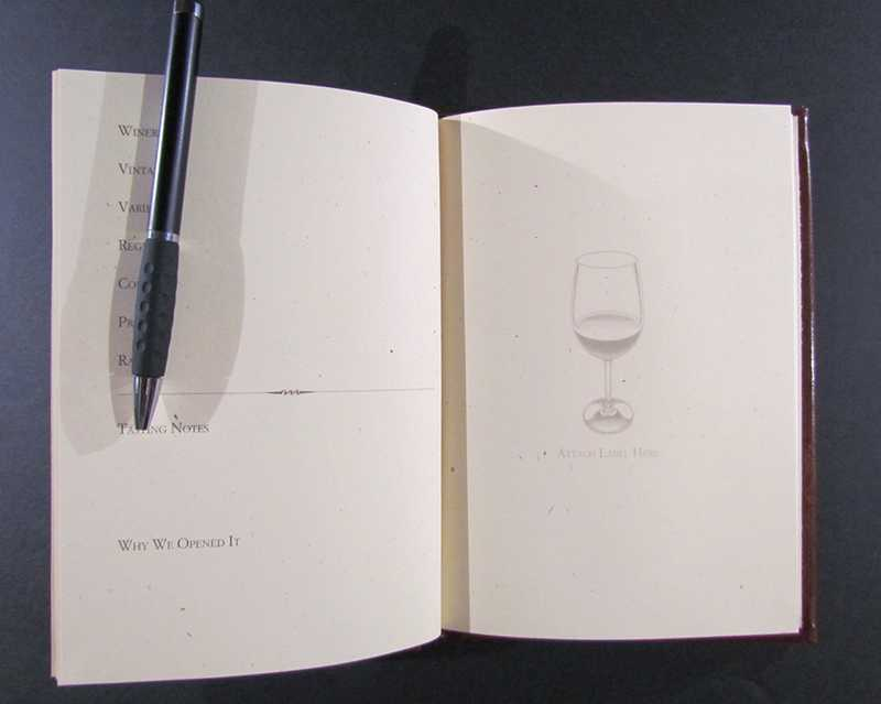 Custom wine journals guest gifts restaurants, hotels, clubs, bars
