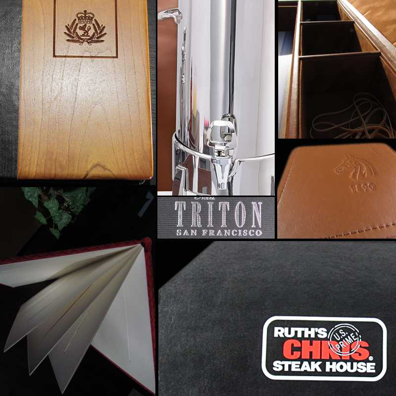 custom placemats, menus, coasters, hotel, restaurant, boardroom accessories
