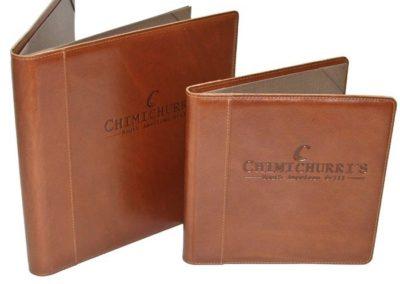 leather debossed menus