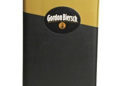 2tone leather menu cover square corners