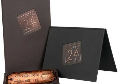 menu-cover-collection metal die cut window