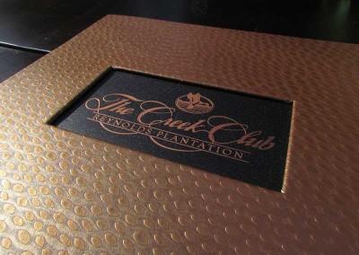 menu cover die cut window