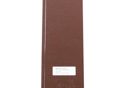 leather menu 4.25x14 die cut window