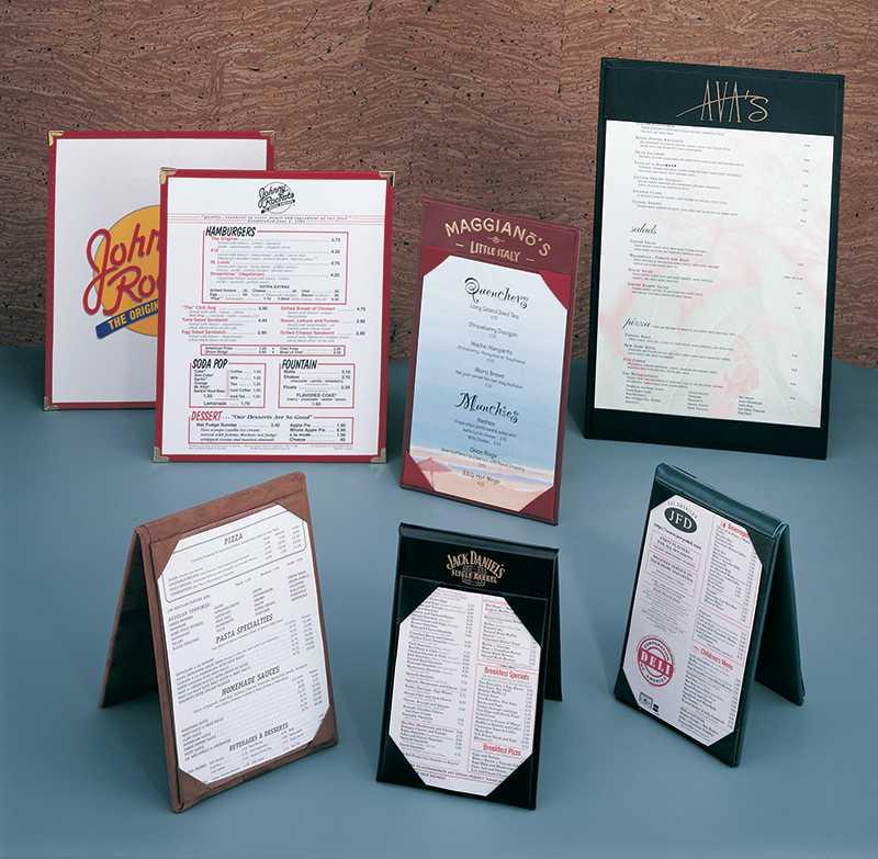 Custom Designed Table Tent Restaurants, hotels, clubs, bars