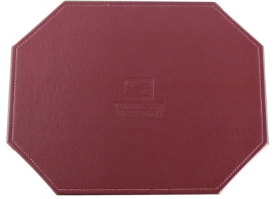 leather-stitched edge debossed-mitered-placemat