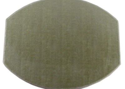 oval mitered placemat stitched edges