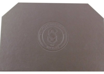 leather placemat mitered-debossed
