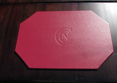 mitered-leather-placemat-textured-debossed