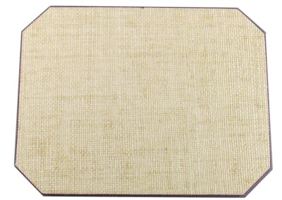 grass cloth placemat mitered