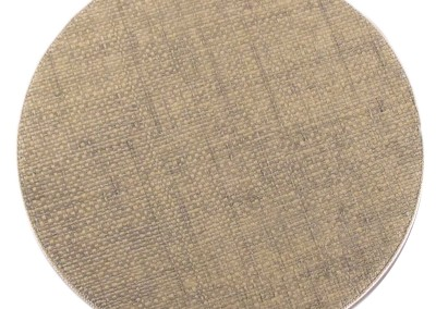 grass cloth round placemat
